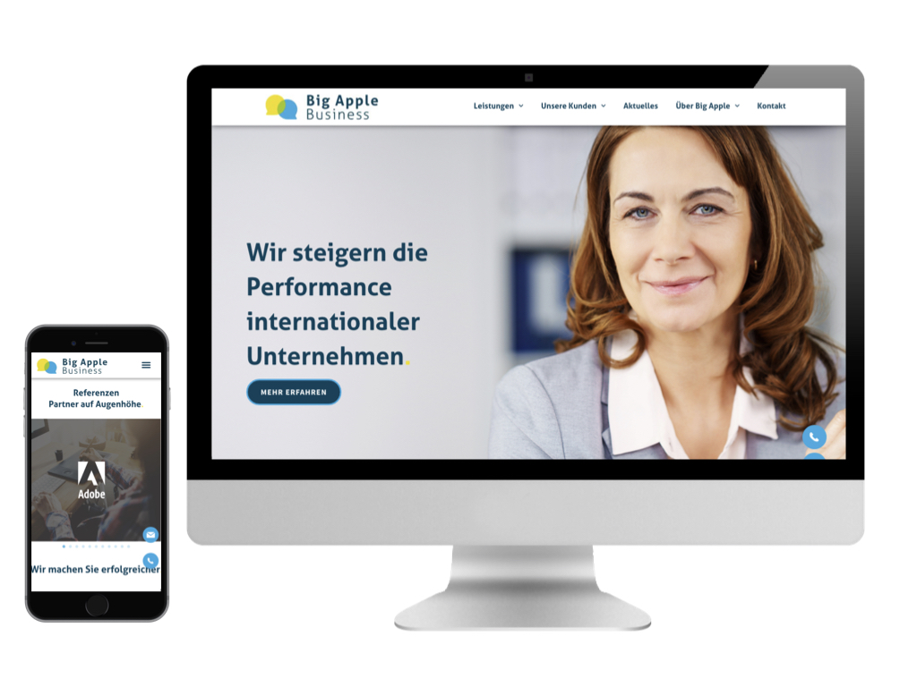 Internetseite big-apple-business CMS Webseite
